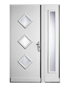 Puerta acorzada para chalet