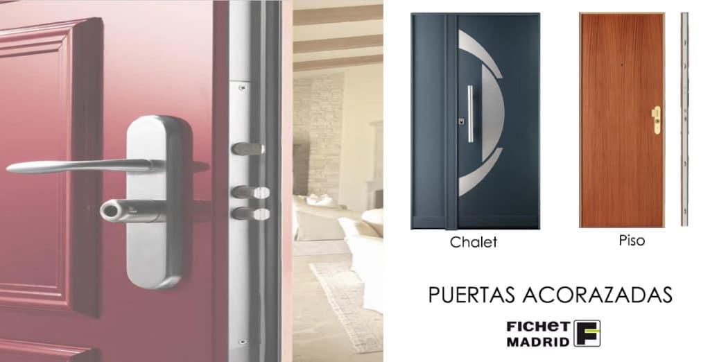Puertas acorazadas Fichet piso y chalet